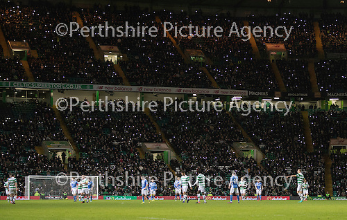 Celtic v St Johnstone…25.01.17     SPFL    Celtic Park<br />Parkhead lit up<br />Picture by Graeme Hart.<br />Copyright Perthshire Picture Agency<br />Tel: 01738 623350  Mobile: 07990 594431