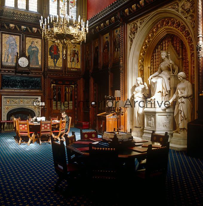 A quiet moment to catch up on some reading in the opulent surroundings of the Prince's Chamber at the House of Lords