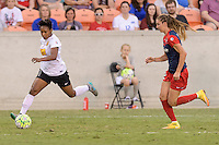 Houston, TX - Sunday Oct. 09, 2016: Taylor Smith, Alyssa Kleiner during the National Women's Soccer League (NWSL) Championship match between the Washington Spirit and the Western New York Flash at BBVA Compass Stadium. The Western New York Flash win 3-2 on penalty kicks after playing to a 2-2 tie.