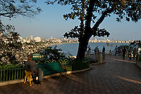 Mumbai, from Mumbai Gardens overlooking the city and the bay, Mumbay, India