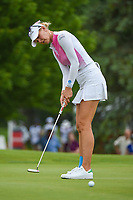 16th July 2021, Midland, MI, USA;  Jessica Korda (USA) barely misses her birdie putt on 11 during the Dow Great Lakes Bay Invitational Rd3 at Midland Country Club on July 16, 2021 in Midland, Michigan.