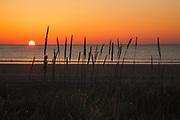 Hampton Beach State Park in Hampton, New Hampshire USA at sunrise