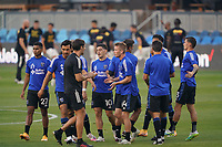 SAN JOSE, CA - SEPTEMBER 5: San Jose Earthquakes players before a game between Colorado Rapids and San Jose Earthquakes at Earthquakes Stadium on September 5, 2020 in San Jose, California.