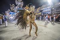 Rio de Janeiro (RJ), 23/02/2020 -Carnaval - Rio - Apresentacao da escola Grande Rio no primeiro dia de desfile das escolas de samba do Grupo Especial do Rio de Janeiro neste domingo (23) na Marques de Sapucai. Na foto musa da Grande Rio. (Foto: Ellan Lustosa/Codigo 19/Codigo 19)