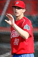 August 1, 2009:  Pitcher Chance Chapman of the Reading Phillies during a game at Jerry Uht Park in Erie, PA.  Reading is the Eastern League Double-A affiliate of the Philadelphia Phillies.  Photo By Mike Janes/Four Seam Images