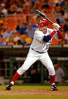 13 June 2006: Robert Fick, catcher for the Washington Nationals, at bat against the Colorado Rockies at RFK Stadium, in Washington, DC. The Rockies defeated the Nationals 9-2 in the second game of the four-game series...Mandatory Photo Credit: Ed Wolfstein Photo..
