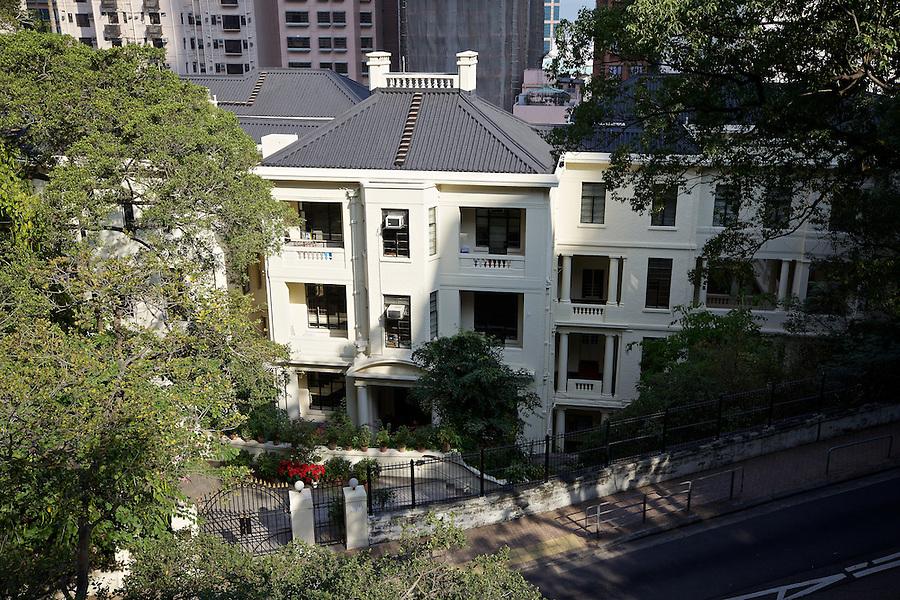 Main entrance, St Stephen's Girls' College in Lyttleton Road, Hong Kong Island.