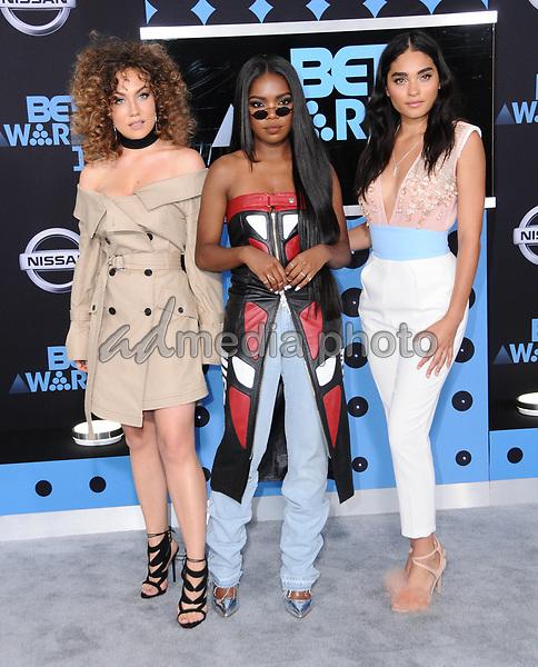 25 June 2017 - Los Angeles, California - Jude Demorest, Ryan Destiny, Brittany O'Grady. 2017 BET Awards held at the Microsoft Square in Los Angeles. Photo Credit: Birdie Thompson/AdMedia
