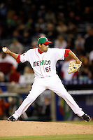 Luis Ayala of Mexico during the World Baseball Championships at Angel Stadium in Anaheim,California on March 16, 2006. Photo by Larry Goren/Four Seam Images