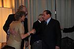 PAOLO E FRANCESCA SCARONI CON SILVIO BERLUSCONI<br /> PREMIO GUIDO CARLI - TERZA  EDIZIONE<br /> PALAZZO DI MONTECITORIO - SALA DELLA LUPA<br /> CON RICEVIMENTO  HOTEL MAJESTIC   ROMA 2012