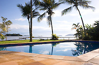 Private home in Parati Brazil. Splendid view of the sea with the pool in the foreground.
