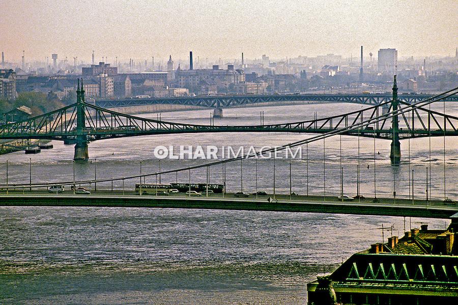 Rio Danúbio em Budapeste. Hungria. 1995. Foto de João Caldas.