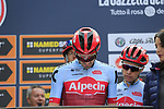 Team Katusha Alpecin at sign on before the start of the 99th edition of Milan-Turin 2018, running 200km from Magenta Milan to Superga Basilica Turin, Italy. 10th October 2018.<br /> Picture: Eoin Clarke | Cyclefile<br /> <br /> <br /> All photos usage must carry mandatory copyright credit (© Cyclefile | Eoin Clarke)