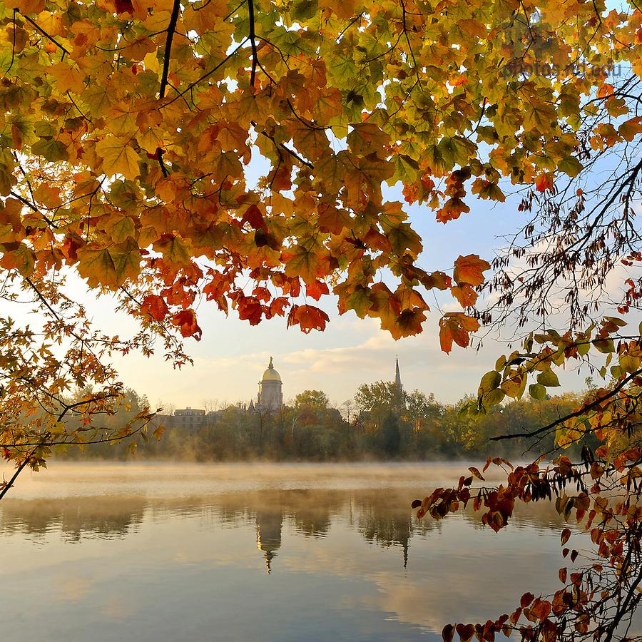 Oct. 11, 2012; Fall foliage on St. Joseph's Lake..Photo by Matt Cashore/University of Notre Dame