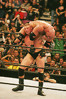 Brock Lesnar Goldberg 2002 Photo By John Barrett/PHOTOlink