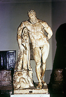 Napoli: Statue of Hercules, 3rd C. AD. Baths of Caracalla. National Museum. Ref. only.