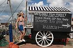 Whitstable Oyster Festival, Kent England 2007. Kelly Naylor enjoying the festival.