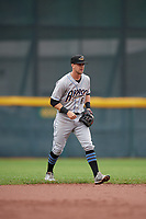 Akron RubberDucks shortstop Ernie Clement (6) during an Eastern League game against the Erie SeaWolves on June 2, 2019 at UPMC Park in Erie, Pennsylvania.  Akron defeated Erie 7-2 in the first game of a doubleheader.  (Mike Janes/Four Seam Images)