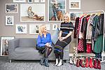 © Joel Goodman - 07973 332324 . 08/12/2017 . Cheshire , UK . JULIE LAVINGTON and ALI HALL of online only women's fashion retailer Sosandar in their Wilmslow design studio . Photo credit : Joel Goodman