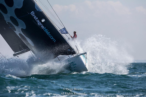Nicolas Groleau's Mach 45 Bretagne Telecom finished second in IRC Zero and overall in the 2019 Rolex Fastnet Race © Pierre Bouras