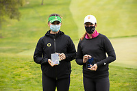 STANFORD, CA - APRIL 25: Briana Chacon, Linn Grant at Stanford Golf Course on April 25, 2021 in Stanford, California.