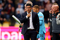 25th September 2021; Vicarge Road, Watford, Herts,  England;  Premier League football, Watford versus Newcastle; Watford Manager Xisco adjusts his tie