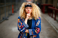 Brittney Chantele poses for a portrait in the Strip District neighborhood on Thursday April 4, 2019 in Pittsburgh, Pennsylvania. (Photo by Jared Wickerham/Pittsburgh City Paper)