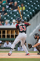 Byron Buxton (53) of the Rochester Red Wings at bat against the Charlotte Knights at BB&T BallPark on August 8, 2015 in Charlotte, North Carolina.  The Red Wings defeated the Knights 3-0.  (Brian Westerholt/Four Seam Images)