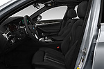 Front seat view of a 2018 BMW 5 Series 540i Sport Line 4 Door Sedan front seat car photos