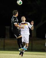The Winthrop University Eagles beat the UNC Asheville Bulldogs 4-0 to clinch a spot in the Big South Championship tournament.  Rob May (5), Adriano Negri (17)