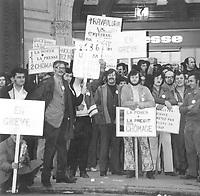 le conflit syndical de la Presse en 1971<br /> <br /> <br /> PHOTO :  CSN