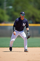 New York Yankees Chris Hess (2) during a Minor League Spring Training game against the Detroit Tigers on March 21, 2018 at the New York Yankees Minor League Complex in Tampa, Florida.  (Mike Janes/Four Seam Images)