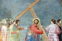 Dettaglio degli affreschi di Giotto all'interno della Cappella degli Scrovegni a Padova.<br /> Detail of a fresco by Giotto in the Scrovegni Chapel, in Padua.<br /> UPDATE IMAGES PRESS/Riccardo De Luca