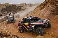 7th January 2021; Riyadh to Buraydah, Saudi Arabia; Dakar Rally, stage 5;  386 Al Helei Mansour (are), Orr Michael (gbr), PH Sport, Abu Dhabi Racing, Light Weight Vehicles Prototype - T3, action during the 5th stage of the Dakar 2021 between Riyadh and Al Qaisumah, in Saudi Arabia on January 7, 2021