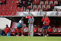 GUADALAJARA, MEXICO - MARCH 24: USMNT U-23 head coach Jason Kreis during a game between Mexico and USMNT U-23 at Estadio Jalisco on March 24, 2021 in Guadalajara, Mexico.