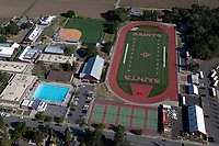 aerial photograph of the athletic facilities of the St. Helena High School, St. Helena, Napa County, California