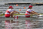 Rowing, Canada, Canadian Women's pair, Krista Guloien, Andreanne Morin, stroke, 2010 FISA World Rowing Championships, Lake Karapiro, Hamilton, New Zealand, heat, Monday 1 November,