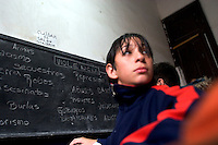 """South America, Argentina, Almirante Brown, Adrogue, Evangelism - Cristo para Todos (Christ for All) Church has formed an anti-violence education program at local public schools called """"No More Violence,"""" pictured here, July 2006, ©Stephen Blake Farrington<br />"""