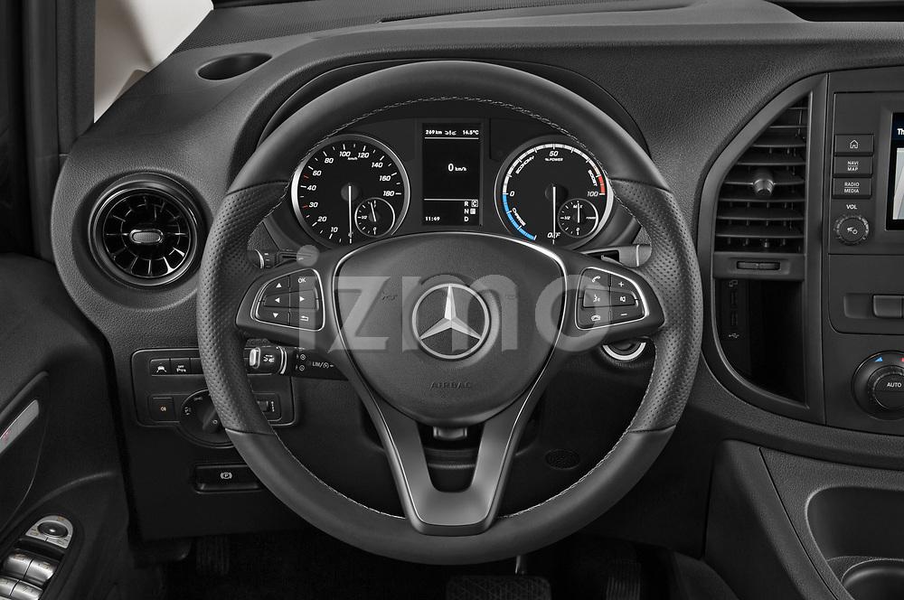 Car pictures of steering wheel view of a 2021 Mercedes Benz Vito-Tourer - 5 Door Passenger Van Steering Wheel
