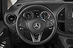 Car pictures of steering wheel view of a 2021 Mercedes Benz Vito-Tourer - 5 Door Passenger Van Steering Wheel