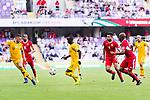 Awer Mabil of Australia (C) in action during the AFC Asian Cup UAE 2019 Group B match between Australia (AUS) and Jordan (JOR) at Hazza Bin Zayed Stadium on 06 January 2019 in Al Ain, United Arab Emirates. Photo by Marcio Rodrigo Machado / Power Sport Images