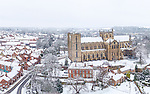 Ripon Cathedral in the snow by Gary Lawson