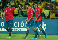 ARMENIA – COLOMBIA, 19-01-2020: Chile y Venezuela en partido de la fecha 2, grupo A, del CONMEBOL Preolímpico Colombia 2020 jugado en el estadio Centenario de Armenia, Colombia. / Chile and Venezuela in match of the date 2, group A, for the CONMEBOL Pre-Olympic Tournament Colombia 2020 played at Centenario stadium in Armenia, Colombia. Photos: VizzorImage / Julian Medina / Cont