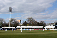 General view of the action behind closed doors during Essex CCC vs Durham CCC, LV Insurance County Championship Group 1 Cricket at The Cloudfm County Ground on 16th April 2021