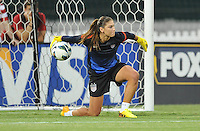 Hope Solo (1) of the USWNT during pre-game warmups. The USWNT defeated Mexico 7-0 during an international friendly, at RFK Stadium, Tuesday September 3 , 2013.