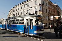 Poland, Krakow, Tramcar, Old Town
