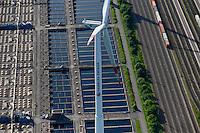 DEUTSCHLAND Hamburg Nordex Windraeder des staedtischen Energieversorger Hamburg Energie auf dem Gelaende des Klaerwerk Dradenau von Hamburg Wasser<br />   /<br /> GERMANY Hamburg , Nordex wind turbine with hybrid tower 140 Meter at water treatment plant of Hamburg Water