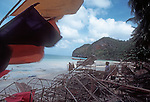 Thailand, Ang Thong National Marine Park, fishing boat, fishermen, South China Sea, Southeast Asia, This is a fishing village inholding within the National Park..