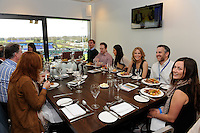 20130216 Copyright onEdition 2013©.Free for editorial use image, please credit: onEdition..Guests enjoy the pre-match lunch in the hospitality box before the Premiership Rugby match between Saracens and Exeter Chiefs at Allianz Park on Saturday 16th February 2013 (Photo by Rob Munro)..For press contacts contact: Sam Feasey at brandRapport on M: +44 (0)7717 757114 E: SFeasey@brand-rapport.com..If you require a higher resolution image or you have any other onEdition photographic enquiries, please contact onEdition on 0845 900 2 900 or email info@onEdition.com.This image is copyright onEdition 2013©..This image has been supplied by onEdition and must be credited onEdition. The author is asserting his full Moral rights in relation to the publication of this image. Rights for onward transmission of any image or file is not granted or implied. Changing or deleting Copyright information is illegal as specified in the Copyright, Design and Patents Act 1988. If you are in any way unsure of your right to publish this image please contact onEdition on 0845 900 2 900 or email info@onEdition.com