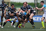 Projecx Waterboys (in white) defeat KIR Club Pyrenees (in black) 12 to 7 during GFI HKFC Rugby Tens 2016 on 06 April 2016 at Hong Kong Football Club in Hong Kong, China. Photo by Juan Manuel Serrano / Power Sport Images